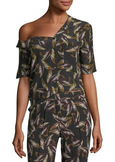 A.L.C. Josefine One-Shoulder Printed Top