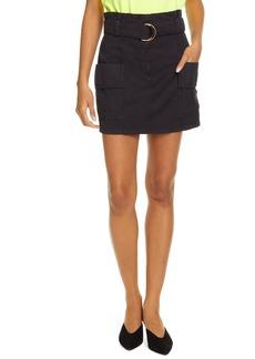 A.L.C. Kai Belted Cotton & Linen Miniskirt