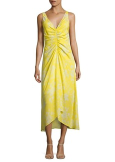 A.L.C. Katherina Ruched Silk Midi Dress