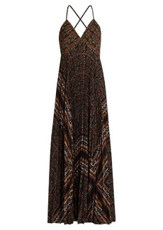 A.L.C. Katia scarf-print pleated dress