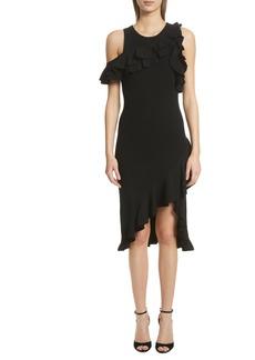 A.L.C. Kellam Ruffle Body-Con Dress
