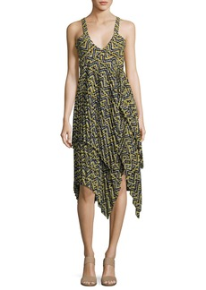 A.L.C. Kendall Sleeveless Printed Silk Dress