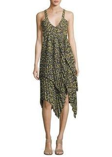 A.L.C. Kendall Sleeveless Printed Silk Dress