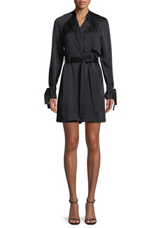 A.L.C. Kendall Tie-Waist Silk Trench Coat
