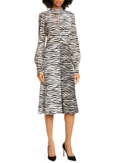 A.L.C. Kennedy Long Sleeve Tiger Print Dress