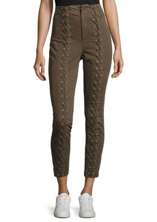 A.L.C. Kingsley Lace-Up High-Waist Pants