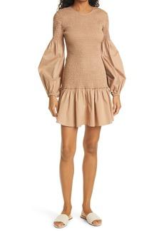 A.L.C. Kora Smocked Long Sleeve Dress