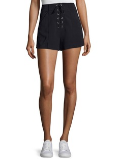 A.L.C. Kyle Lace-Up High-Waist Shorts