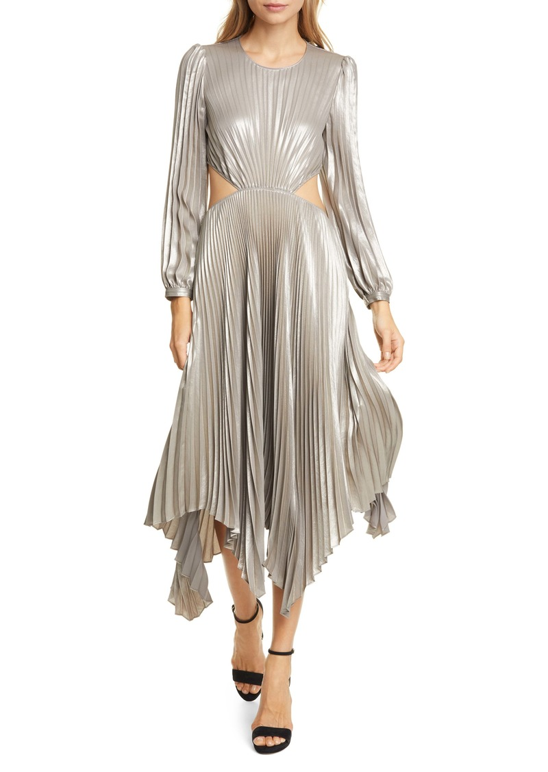 A.L.C. Naples Cutout Waist Long Sleeve Dress