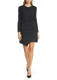 A.L.C. Lana Crystal Long Sleeve Cocktail Dress