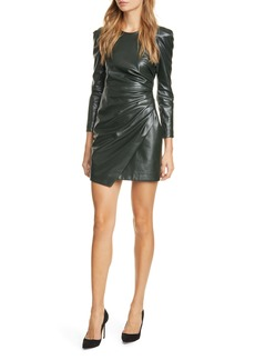 A.L.C. Lana Long Sleeve Leather Minidress