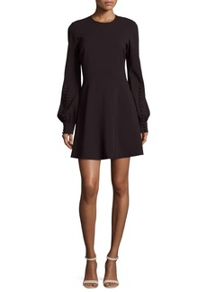 A.L.C. Lauren Jewel-Neck Blouson-Sleeve A-Line Dress