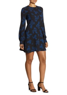 A.L.C. Lauren Printed Long-Sleeve Dress
