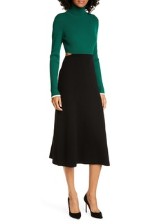A.L.C. Leander Long Sleeve Rib Sweater Dress