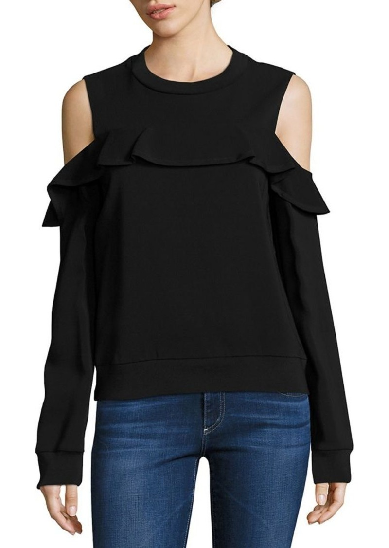 A.L.C. Lindsey Ruffle Cold-Shoulder Top