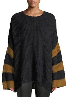A.L.C. Lorenzo Crewneck Striped Long-Sleeve Alpaca-Blend Sweater