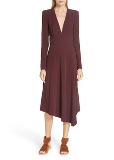 A.L.C. Loyola Asymmetrical Midi Dress