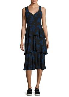 A.L.C. Luna Sleeveless Paisley Tiered Midi Dress