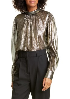 A.L.C. Lydia Metallic Silk Blouse