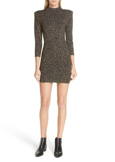 A.L.C. Mahry Metallic Leopard Print Dress