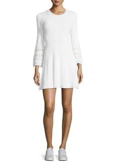 A.L.C. Malindi Crewneck Fit-and-Flare Knit Dress
