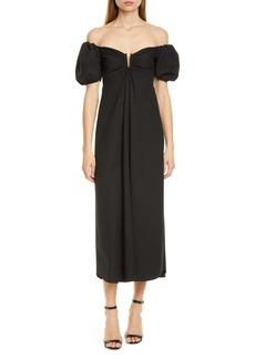 A.L.C. Marilyn Off the Shoulder Midi Dress