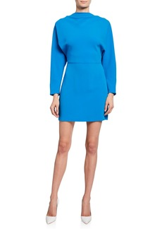 A.L.C. Marin Cowl-Neck Bracelet-Sleeve Mini Dress