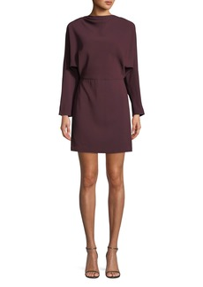 A.L.C. Marin Long-Sleeve Cowl-Neck Dress
