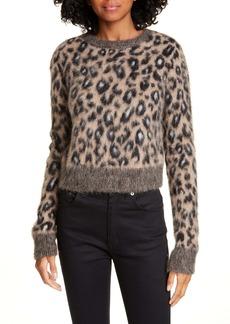 A.L.C. Maris Leopard Alpaca Blend Sweater