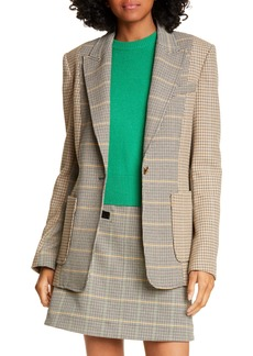 A.L.C. Martel Mixed Plaid Jacket