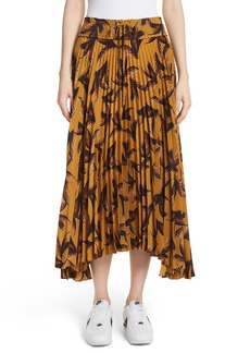 A.L.C. Maya Pleated A-Line Skirt