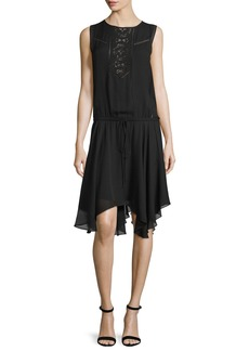 A.L.C. Meloni Sleeveless Silk Handkerchief Dress