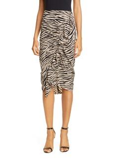 A.L.C. Metz Tiger Print Stretch Silk Skirt