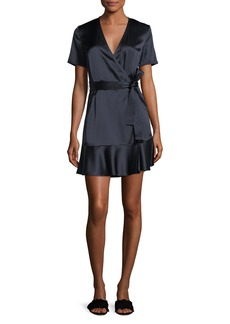 A.L.C. Micah Silk Satin Wrap Dress