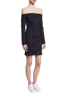 A.L.C. Mika Off-the-Shoulder Denim Mini Dress