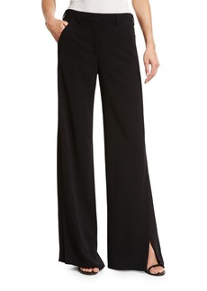 A.L.C. Miles Stretch Crepe Wide-Leg Pants