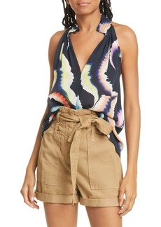 A.L.C. Minelli Silk Sleeveless Top