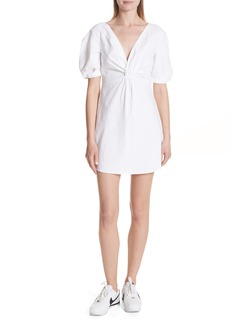 A.L.C. Mirren Twist Front Linen Blend Dress