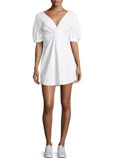 A.L.C. Mirren Twist-Front Linen-Blend Dress
