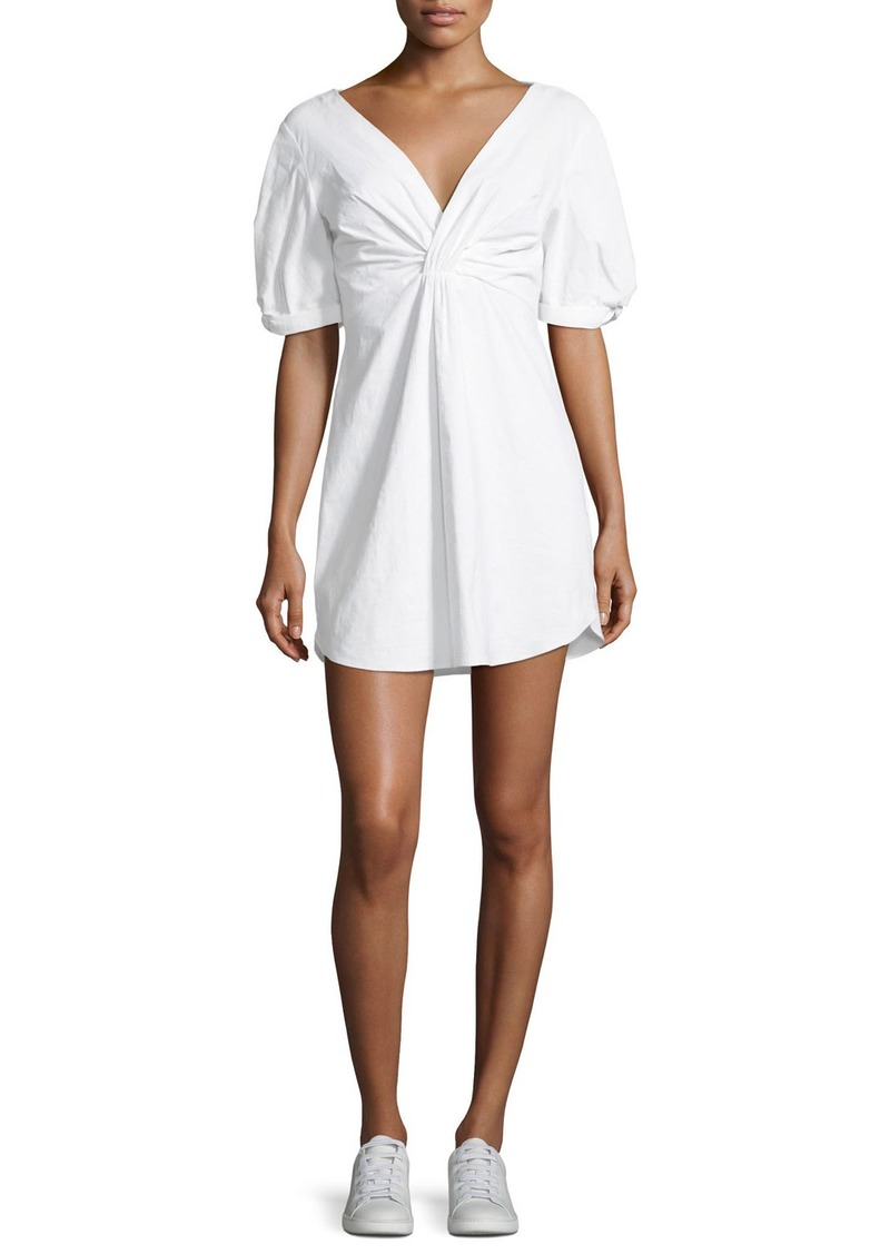A.L.C. Mirren Twist-Front Linen-Blend Dress