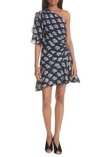 A.L.C. Misha Print One-Shoulder Silk Dress