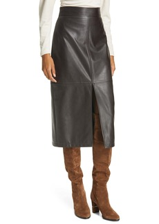 A.L.C. Moss Front Slit Faux Leather Skirt