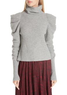 A.L.C. Moy Leg of Mutton Turtleneck Sweater
