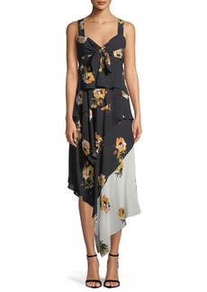 A.L.C. Natalia Tiered Floral Silk Dress