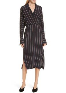A.L.C. Nico Stripe Silk Shirtdress