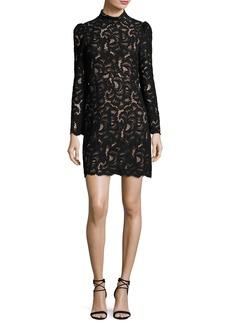 A.L.C. Nova Mock-Neck Long-Sleeve Lace Cocktail Dress