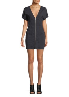A.L.C. Novak Zip-Front Mini Dress