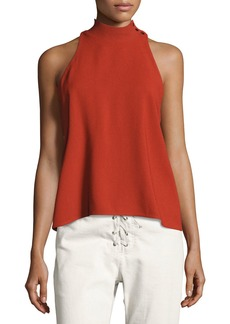 A.L.C. Olympia Mock-Neck Sleeveless Top