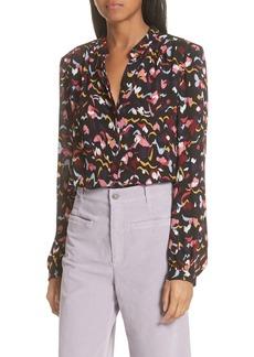 A.L.C. Owens Floral Silk Top