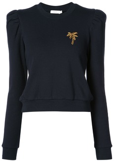 A.L.C. palm-tree embroidered sweater